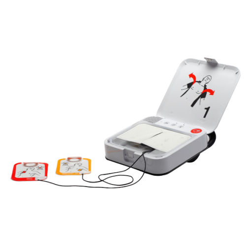 AED Authority LifePad CR2 Essential Defibrillator Device With Pads Connected