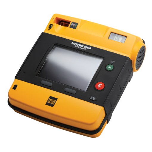 LifePak 1000 Professional Defibrillator Machine Image Side-On