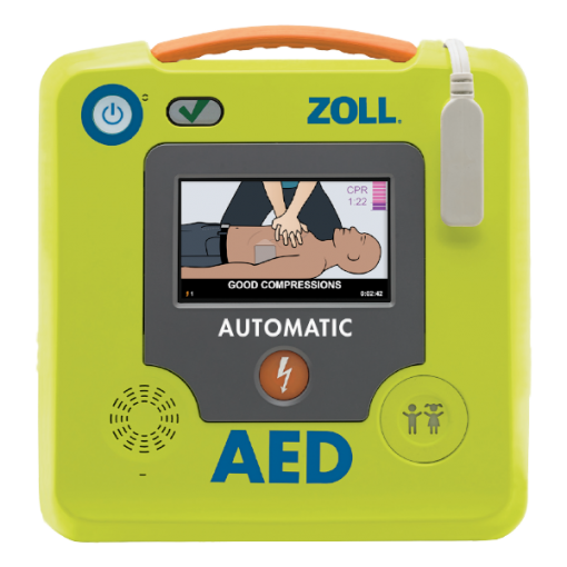 Neon Green Zoll AED Authority AED 3 Defibrillator Device