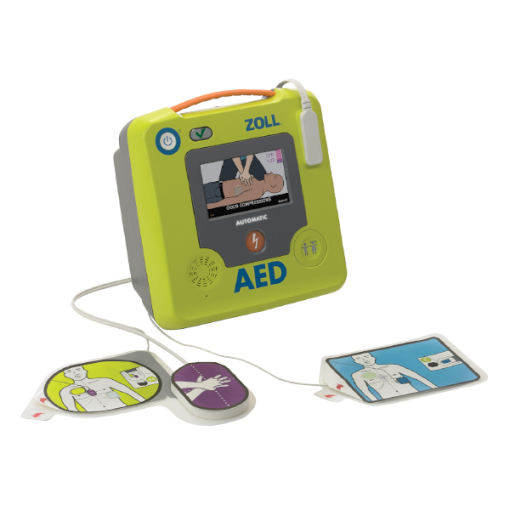 AED Authority Zoll 3 Defibrillator Device With Pads Connected