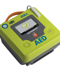 Neon Green Zoll AED Authority AED 3 Defibrillator Device On Ground