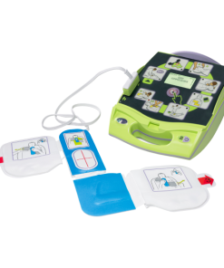 Zoll AED Plus Defibrillator Machine With Adult Pads Plugged In