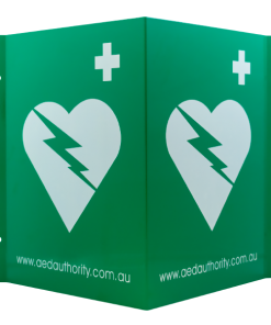 AED Authority Green And White Wall Sign