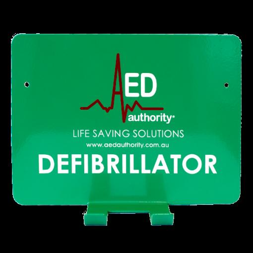 Green AED Authority Defibrillator Wall Bracket