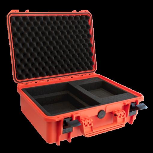 Red Hard-Shell and Foam Inside Defibrillator Case Open