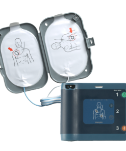 Philips Heart Start FRx Semi Automatic Defibrillator Device With Smart Pads Connected