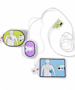 Zoll AED CPR Adult UniPadz Layed Out on White Background