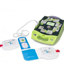 ZOLL CPR Adult Defibrillator Padz Plugged Into Defibrillator Machine